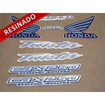 Kit Adesivos Cbx Twister 250 2004 Azul - Resinado - Decalx