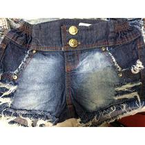 Shorts Jeans Hot Pan Cintura Alta Lindo A Pronta Entrega