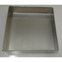Forma Quadrada P/bolo (aluminio) 25 X 10