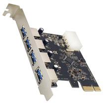 Placa Pci Express Usb 3.0 5gbps 4 Portas  Dp 43
