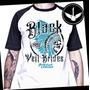 Camiseta Black Veil Brides Raglan Baby Look Banda Rock Metal