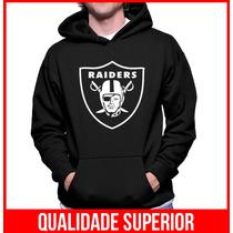 Moletom Oakland Raiders Masculino E Feminino Blusa Canguru