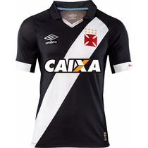 Camisa Original Do Vasco 16/17 Preta Branca Carioca Rio Nova