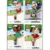 Amiibo Kit C/4 Unidades Mabel Tomnook Digby Lottie