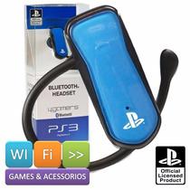 Fone Headset Ps3 Bluetooth Wireless Sem Fio Original Sony