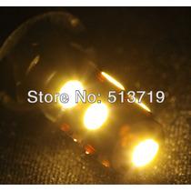 Lâmpada Led Amarela 9smd 5w Pingo Carro Moto 10 Pçs