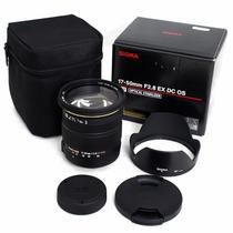 Lente Sigma 17-50mm F/2.8 Ex Dc Os Hsm Autofoco Canon Com Nf