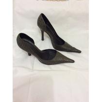 Sapato Scarpin Croco Dunes Verde 35