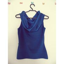 Blusa Feminina Azul Gola Boba Cód. 61