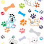 Adesivo De Parede Patinhas Coloridas Pet Shop 3 Metros