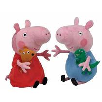 Kit Pelucia Familia Peppa Pig Com A Peppa Jorge E Os Pais