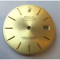 Mostrador Dial Rolex Datejust Aço Ouro Original 16013 16203