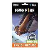 Free Fire 765 Diamantes +77 Bônus (841) Recarga P/ Conta