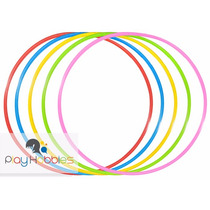 50 Bambolês Arco Infantil Reforçado 67 Cm Colorido - Atacado