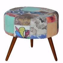 Poltrona Sofia Patchwork Decorativa Cadeira Sala Recepção