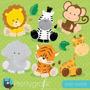 Kit Scrapbook Digital Animais Da Selva Imagens Clipart Cod 4