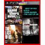 Melhores Jogos De Ps3 Psn Last Of Us, Gta 5 E Tomb Raider