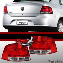 Lanterna Traseira Voyage G5 2007 Até 2012 Cristal Importado