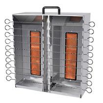 Churrasqueira A Gás Para 20 Espetinhos Em Inox Agi-20 - Arke