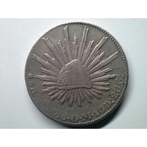 Moeda Mexico 8 Reales Zacateca 1838 - Om - Prata