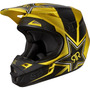 Capacete Fox V1 Rockstar Black Yellow 61-62cm Gg Trilha Mx