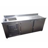 Balcão Refrigerado De Encosto Com Cuba 1,50 M Refrigel