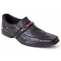 Sapato Social Masculino Couro Legítimo Com Fivela