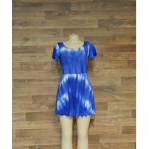 Vestido Curto Taidai Azul Hippie - Boho - Moda Alternativa