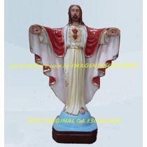 Escultura Jesus Cristo Redentor Linda Imagem 60cm Promoção