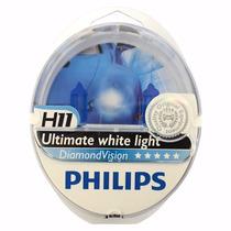 Lâmpada Diamond Vision Philips H11 Efeito Xenon 5000k