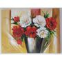 Quadro De Vaso De Flores - Sem Moldura(não Necessita)