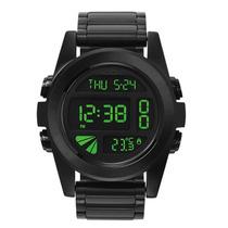 Relógio Masculino Nixon Unit Ss All Black Green