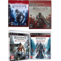 Coleção Assassins Creed Ps3 - 4 Jogos Originais Mídia Fisica