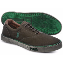 Ttênis Polo Sneaker Masculino Verde Manchado