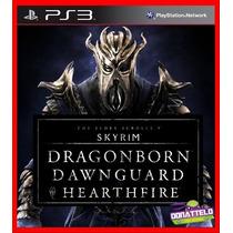 Skyrim Ps3 Codigo Psn Dlcs Dragonborn Dawnguard E Heartfire