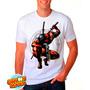 Camiseta Branca Deadpool Quadrinhos Hq Engraçada 363