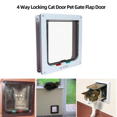 Gato Porta Do Animal De Estima??o Porta 4 Way Bloqueio Cat