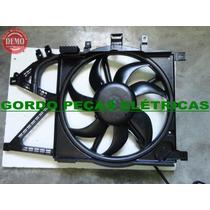 Defletor + Motor Da Ventoinha Novo Corsa / Montana Com Ar