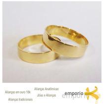 Par Alianças Ouro 18k - 7 Gramas 6mm Noivado E Casamento