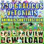 Imagens Vetoriais Shutterstock 200 Animais Eps Preview Jpg