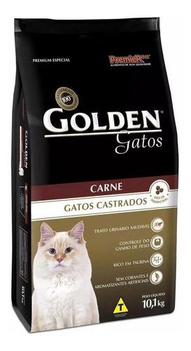 Ração Golden Premium Especial Castrados Para Gato Adulto Sabor Carne Em Saco De 10.1kg