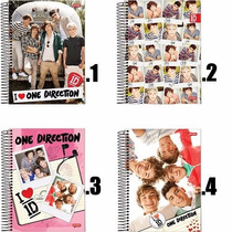 Caderno One Direction 1d 1 Mat 1 Un - Jandaia