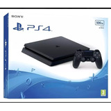 Ps4 Slim Sony 500gb Hdr Original Lacrado Pronta Entrega