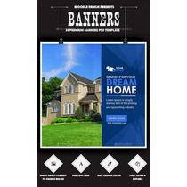 Bundle Real Estate Banners Ads - 54 Psd [03 Sets]