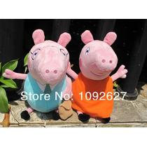 Kit 4 Peppa Familia Personagens Pig George Porca Brinquedos