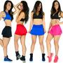 Kit 3 Short Saia Tapa Bumbum Feminino Fitness Academia