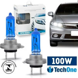 Par Lampada Super Branca H7 8500k Xenon 12v 100w Techone