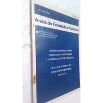 Livro Anais De Farmácia E Química De São Paulo