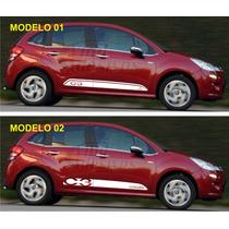 Kit De Adesivos Citroen C3 Sport Faixa Lateral Modelo 2014