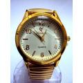 Lindo Relógio Potenzia Vip - Dourado - Pulseira Metálica